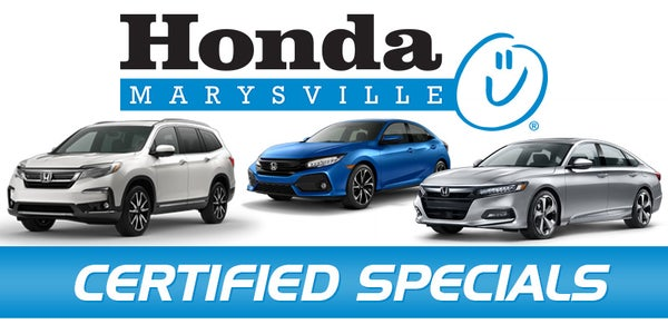 Certified Pre Owned Honda >> Certified Pre Owned Specials